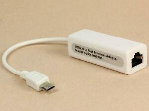 Micro USB 2.0 to Ethernet 10100M RJ45 Network Lan Adapter Card For Tablet TS