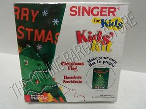 Singer Kids Children Holiday Christmas Tree Make Your Own Flag Kit Sewing Craft $7.99