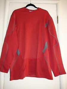 Nike Dri-Fit Hyperwarm Thermal Fitted Shirt 468001 698 Cardinal Red 2XL 3XL NEW
