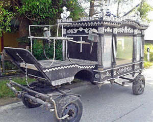WOODEN HORSE FUNERAL HEARSE