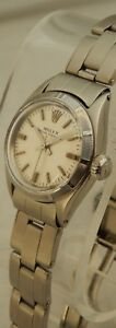 Rolex Oyster Perpetual Ladies ss Watch Orig Oyster Bracelet BEAUTIFUL 1961
