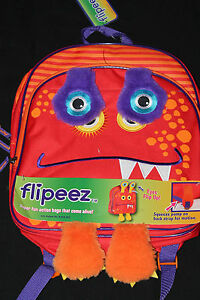 Kids Flipeez Monster Backpack Orange or Green new