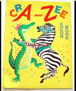 1960 stephens cra zee alphabet coloring book 15