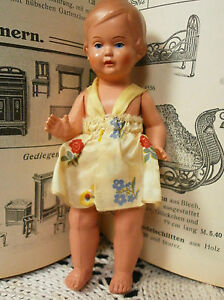 old celluloid doll schildkroet christel