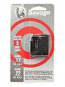 Savage 93 Series Blue Magazine 5 Round 17 HMR  22 WMR #90001 NEW