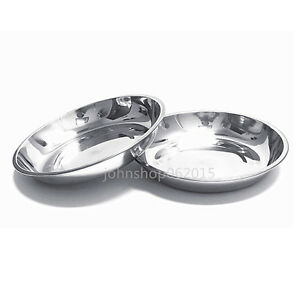 304 Stainless Steel Dinner Plate Dish 22cm 2pcs New
