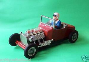 vintage tin toy hot rod speed demon racer