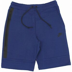 NIKE TECH FLEECE 1MM SHORTS Blue-Black slim fit running training Asian Size new