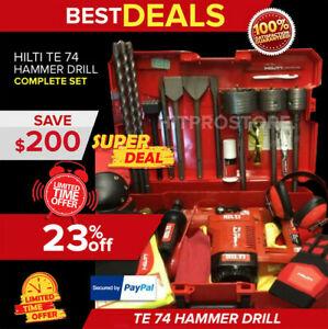 HILTI TE 74 HAMMER DRILL LK FREE EXTRAS LOADED BITS & CHISELS FAST SHIP