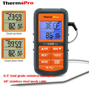ThermoPro Meat Thermometer Digital LCD Cooking Oven Grill Thermometer with Timer