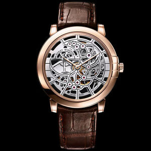 Harry Winston Ultra Thin Midnight Skeleton In Rose Gold 42mm Ref: 450MAS42RL.W