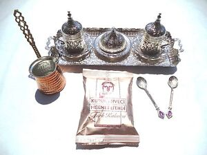 Handmade Turkish Coffee Espresso Set with Coffee Pot+Turkish Coffee