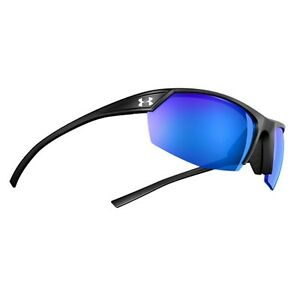 Under Armour Zone II Sunglasses Satin Black Frame Blue Mirror UA8600050-010168