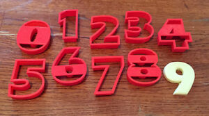 Full Set Of Numbers in Eras Bold cookie and fondant cutter - US SELLER!!