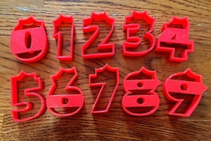 Full Set of Numbers With Crowns cookie and fondant cutter - US SELLER!!