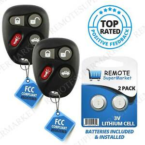 Replacement for Buick LeSabre Park Avenue Cadillac Remote Car Key Fob Pair $19.97