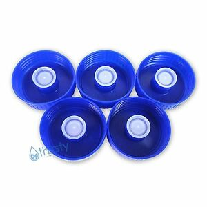 Lot of 5 Water Bottle 53mm Screw On Caps Anti Splash Non Spill Tops Canteen