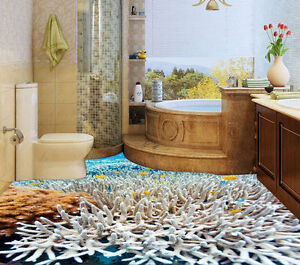 3D Tropical Coral Reef Fish Floor Mural Photo Flooring Wallpaper Home Wall Decal