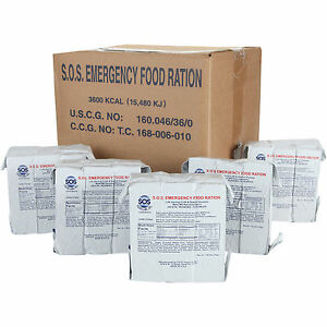 SOS EMERGENCY FOOD RATIONS 10x3600 Calories SURVIVAL KIT Fresh dates 5 Year Life