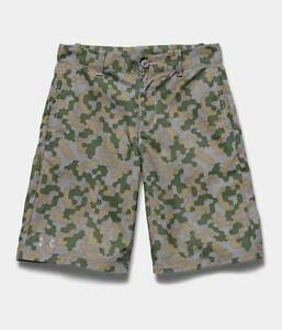 Under Armour Boy's UA Utility Club Printed Golf Shorts NWT $50