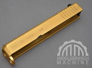 Titanium Nitride TiN Gold or AlTiN Black Slide Coating - Glock Sig 19
