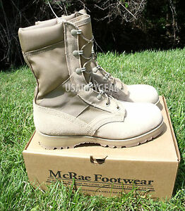 Made in USA Military ACU Desert Tan Army Combat Flight Work Boots Suede Vibram S