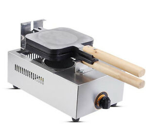 Commercial Non-stick LPG Gas Lolly Waffle Maker Baking Machine 4pcstime FY-114R