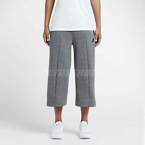 Nike Sportswear AS Tech Fleece Knit Grey Black Womens Capri Running 811680-063