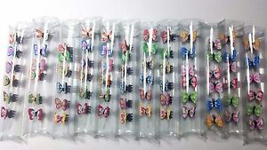 Mini Butterfly Hair Snap Clamp Clip Claw Pin Scallop Hair Accessory Lots