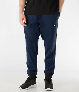678558-480 NIKE AW77 French Terry Cuffed Sweatpants!!Game RoyalBlackHeather!!