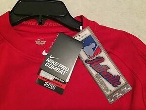 NIKE PRO COMBAT Men's Dri-Fit HYPERWARM Fitted Baseball Shirt Sz Medium NWT $110