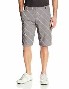 Oakley Men's Size 30 31 34 Scotts 12 O-Hydrolix Golf Shorts - Grigio Scuro
