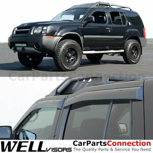 WellVisors Window Visors 1999 2004 For Nissan Xterra Side Deflectors