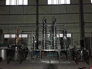 1000 L (264 g) Stainless Steel or copper Vodka or Gin still -  micro distillery