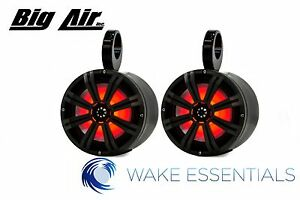 Wakeboard Tower Speakers *LED* Big Air Kicker Bullet Speakers *BLACK*