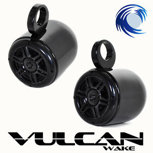 Wakeboard Tower Speakers  *Black Powder Coat* Vulcan Bullets