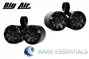 Wakeboard Tower Speakers Big Air Kicker Dual Bullet Speakers *Black Powder Coat*