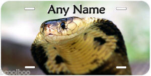 Snake Head Aluminum Any Name Personalized Novelty Car License Plate