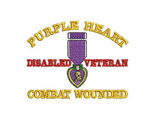 PURPLE HEART MEDAL COMBAT WOUNDED ARMY MILITARY VETERAN EMBROIDERED POLO SHIRT