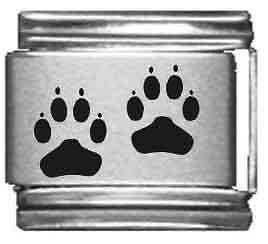 Clearly Charming Paw Print Laser Italian Charm $3.49