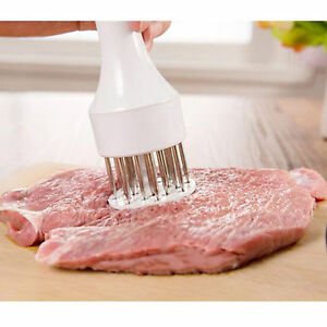 New Professional Meat Tenderizer with Stainless Steel Needle Prongs Kitchen Tool