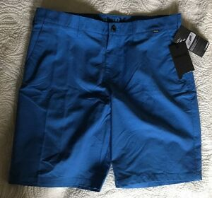 Hurley Chino Shorts Dry Fit MWS0001810 Blue 36 $60 Flat Front Casual