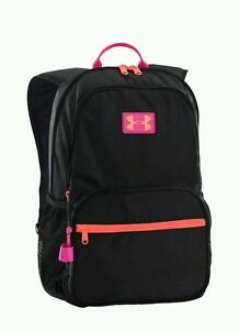 Under Armour Backpack Girls Youth Great Escape Black Pink 1260542 001 nwt $45