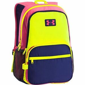 Under Armour Backpack Girls Great Escape High-Vis Yellow 1260542 731 nwt $45