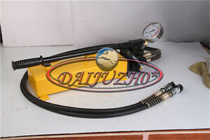 NEW 3L Double Acting Hydraulic Hand Pump with Pressure Gauge 10000 PSI