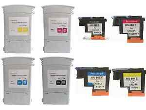 Bundle Set HP 80 BKCMY Ink Cartridge and Printhead For Deskjet 1050c 1055cm