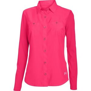 Under Armour 1271379 Women's Coolswitch Thermocline Long Sleeve Shirt Pink NWT