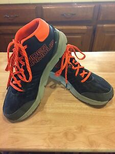 Boys Under Armour Sz GS 6 Overdrive Mid Marble & Grit Athletic Shoes CamoOrange