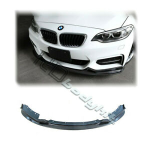 CARBON FIBER 3D DESIGN STYLE FRONT LIP FOR F22 M235I (OR M-TECH BUMPER USE)