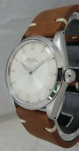 Rolex Oyster Perpetual Date Gold Capped Model 1550 Mens Watch On Lamb Strap 1977